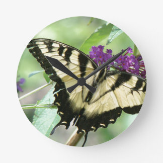 Swallowtail Butterfly Flowers Floral Wildlife Clocks