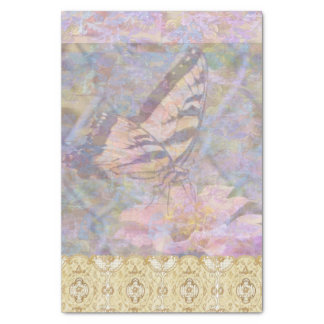 Swallowtail Butterfly Lacy Pastel Tissue Paper