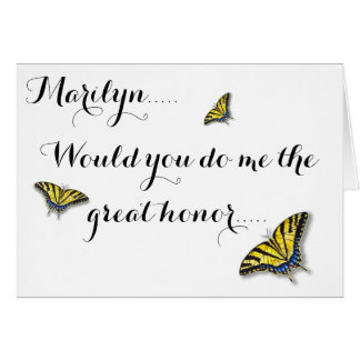 Swallowtail Butterfly Maid Of Honor Greeting Cards