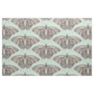 swallowtail butterfly mint basalt fabric