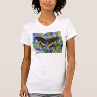Swallowtail Butterfly on blue T-Shirt