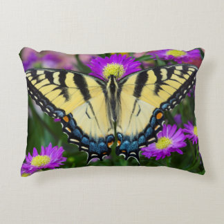 Swallowtail Butterfly on daisy Decorative Pillow