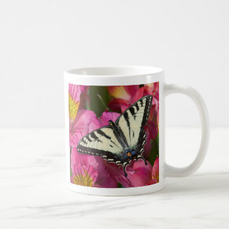 Swallowtail Butterfly on pink Coffee Mug