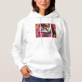 Swallowtail Butterfly on pink Hoodie