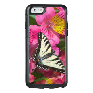 Swallowtail Butterfly on pink OtterBox iPhone 6/6s Case