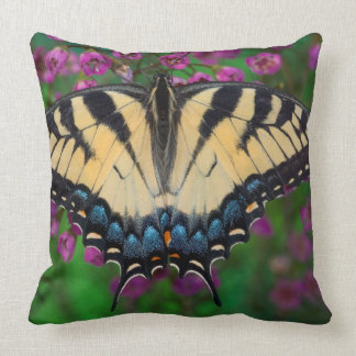 Swallowtail Butterfly on purple Throw Pillow