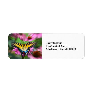 Swallowtail Butterfly Return Address Label