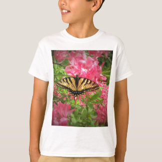 Swallowtail Butterfly Sits on Pink Azaleas T-Shirt
