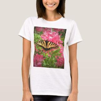 Swallowtail Butterfly Sits on Pink Azaleas T-Shirt
