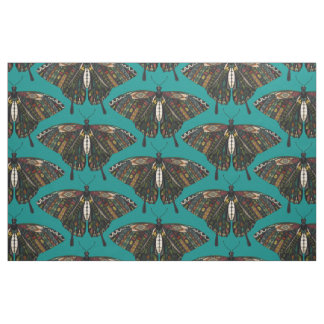 swallowtail butterfly teal fabric