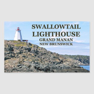 Swallowtail Lighthouse, Grand Manan, N.B. Stickers