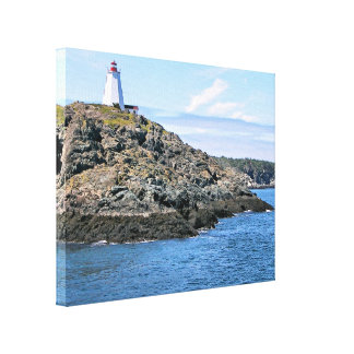 Swallowtail Lighthouse Grand Manan Wrapped Canvas
