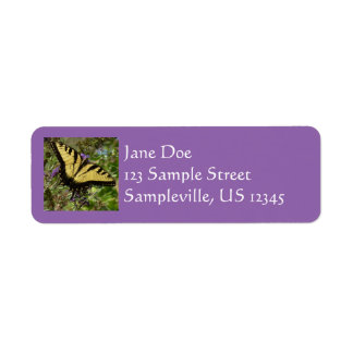 Swallowtail on Butterfly Bush Colorful Nature Return Address Label