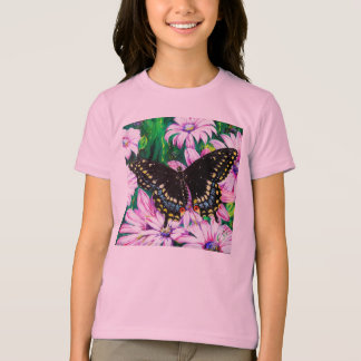 Swallowtail on Pink Flowers T-Shirt