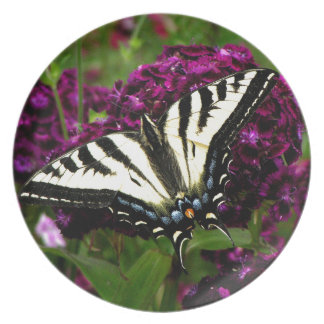 Swallowtail on the Butterfly Bush Dinner Plate
