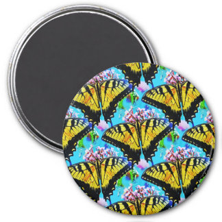 Swallowtails Galore.... 3 Inch Round Magnet