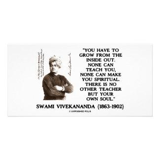 Swami Vivekananda Grow From Inside Out Own Teacher Custom Photo Card