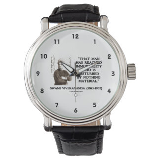Swami Vivekananda Man Reached Immortality Material Wristwatch