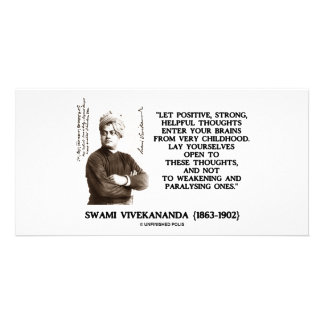 Swami Vivekananda Positive Strong Helpful Thoughts Photo Card Template