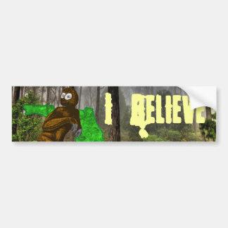 Swamp Ape I Believe Bumper Sticker