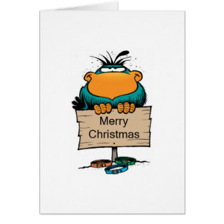 Swamp Bludgerigar Christmas Card
