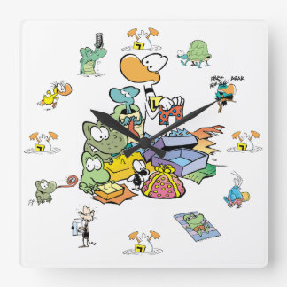 Swamp Cartoon Character Clock