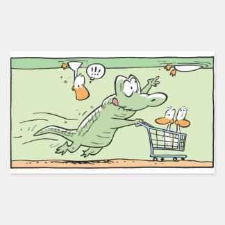 Swamp Crocodile Cartoon Humor