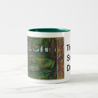 Swamp Dragon Two-Tone Coffee Mug