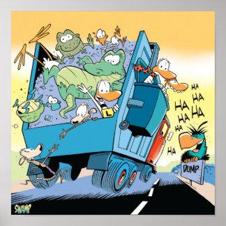 Swamp Dump Truck Poster