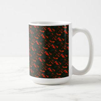 """Swamp Fire Tiled"" Abstract Design Mug"