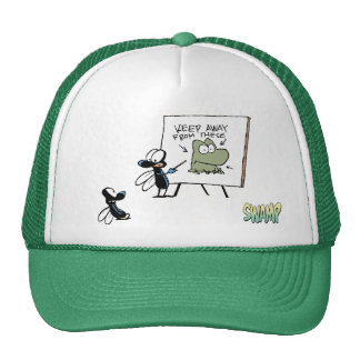 Swamp Fly Frog Safety Speech Trucker Hat
