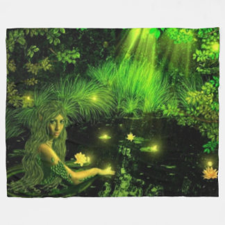 SWAMP GIRL FLEECE BLANKET
