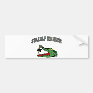 Swamp Hunter Gator Head Bumper Sticker