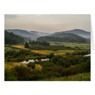 Swamp Land - Foggy Mountains - Birthday - Greeting Card