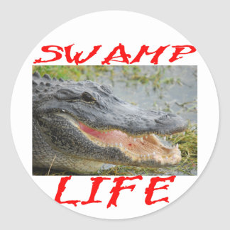 Swamp Life Alligator #002 Classic Round Sticker