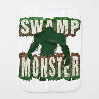 SWAMP MONSTER BABY BURP CLOTHS