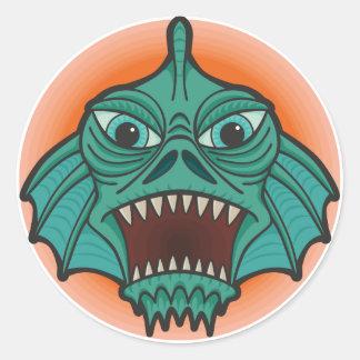 Swamp Monster Classic Round Sticker