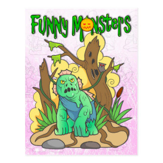 swamp monster postcard