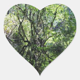 Swamp Song Heart Sticker