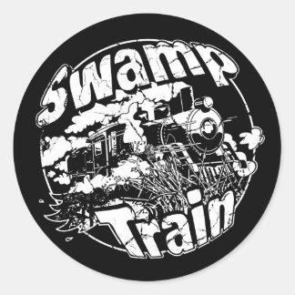 Swamp Train Round Logo 2 Classic Round Sticker