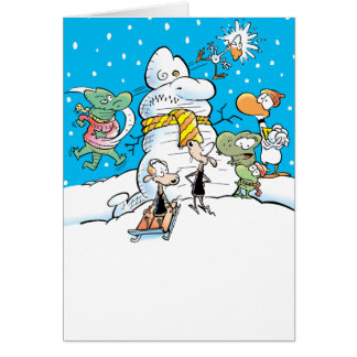 Swamp White Christmas Card