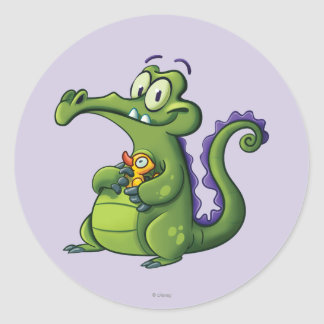Swampy and Rubber Ducky Round Sticker