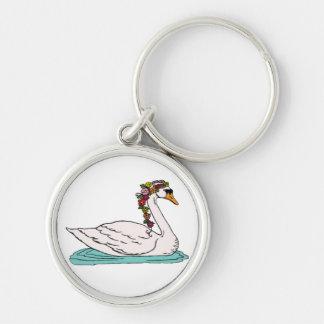 Swan 5 keychain