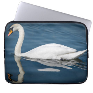 Swan and its reflection laptop sleeve