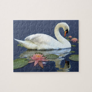 Swan and Lilies Jigsaw Puzzle