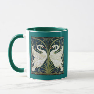 Swan and Rush and Iris wallpaper Mug