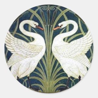 Swan and Rush and Iris wallpaper Sticker