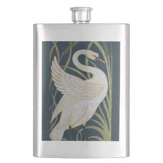 Swan Art Nouveau Vintage Hip Flask