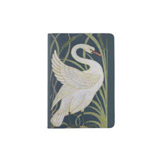 Swan Art Nouveau Vintage Passport Holder