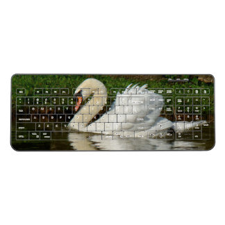 Swan Bird Wildlife Animal Wireless Keyboard